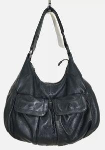 Cole Haan Black Leather Hobo Handbag